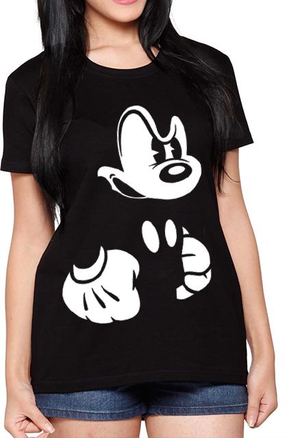 Para Mouse De Tshirt Mickey Sueter Dama Estampado qOExTHxwB